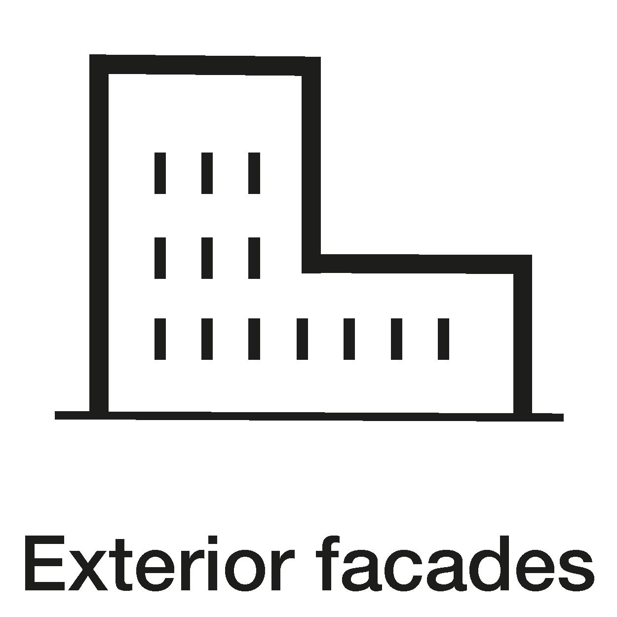 Exterior facades