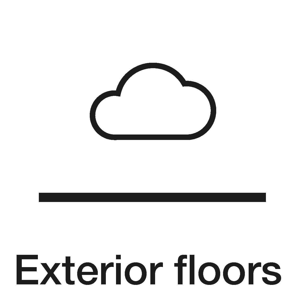 Exterior floors